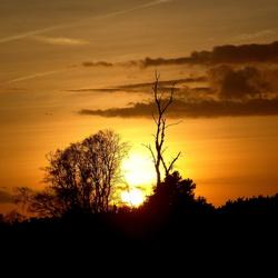 zon verdwijnt
