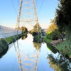 pano   avondsfeeer  kanaal bij Groeneweg brug  uit 3 vertic 16sept 2018
