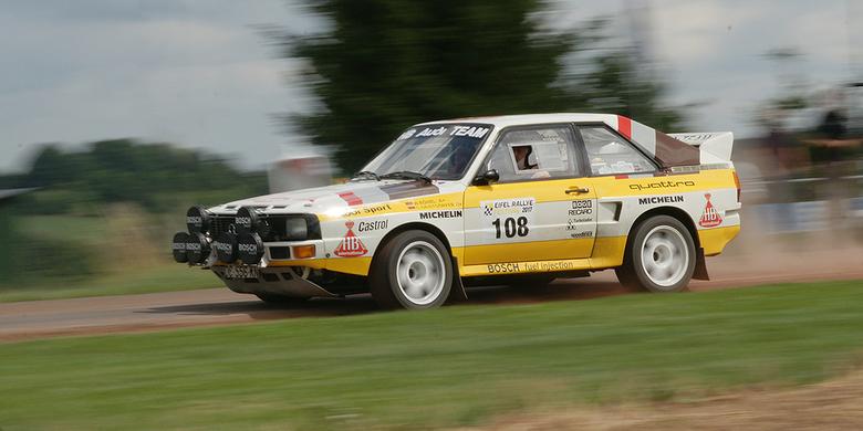Sport quattro - Sports Quattro at speed at ADAC Eifel rally.