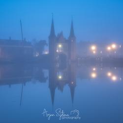 Misty blue hour
