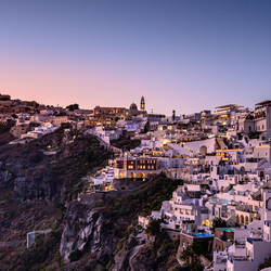 Thira at night