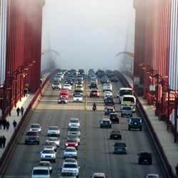 Golden Gate in the mist