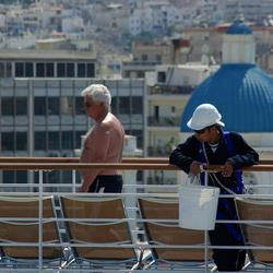 cruiseschip in Athene