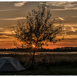 Sunset at the camping