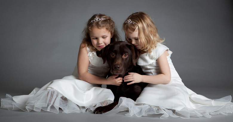 Beste maatje - Mijn meiden zijn dol op onze hond zoals hier duidelijk te zien is.