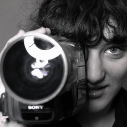 Filmen met oude filmcamera