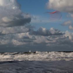 Woelige zee