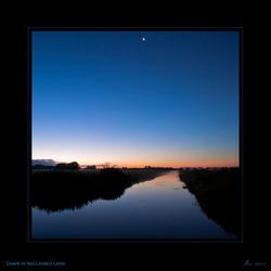 Dawn in reclaimed land