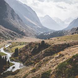 Kyrgyz backdrop.