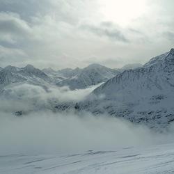 besneeuwde alpen