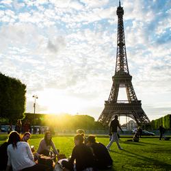 Sunset eiffeltower Paris