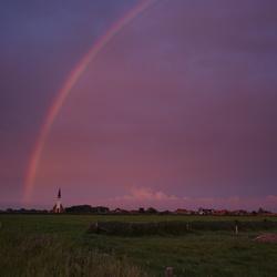 Regenboog boven Den Hoorn