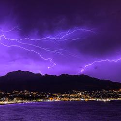 Onweer boven Spanje