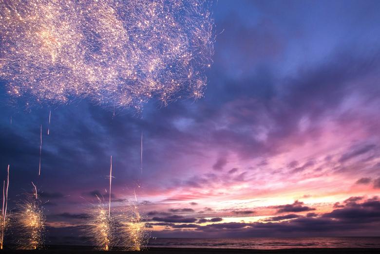 Sunset - Sunset with Firework