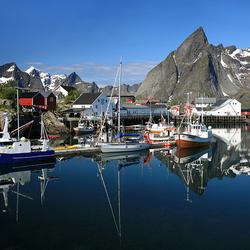 Klein vissershaventje Hamnoya, Lofoten (N)