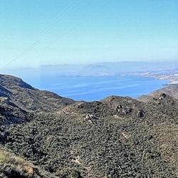 Panorama Spaanse kust....
