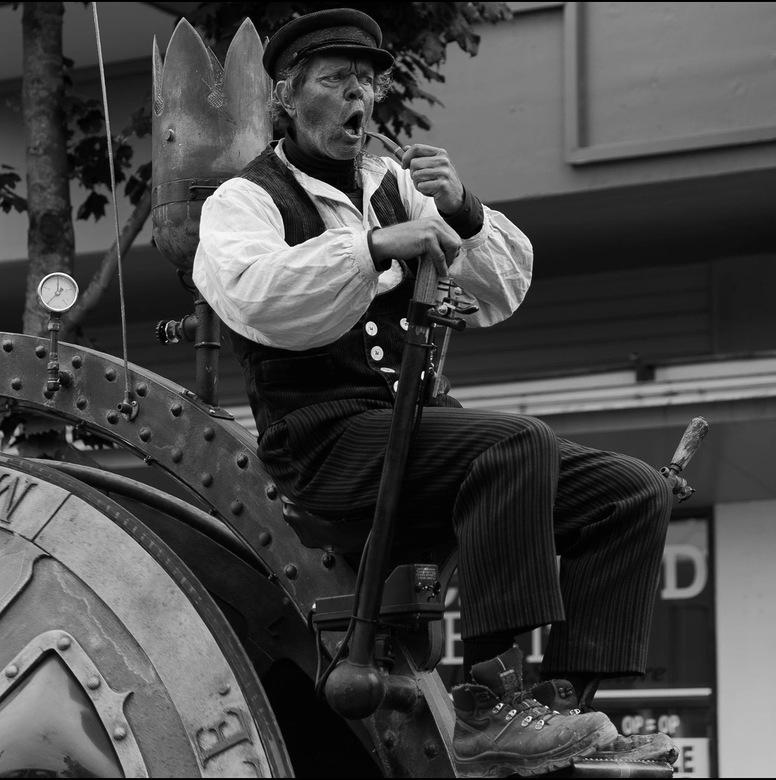 Steam punk - Theater Abacus tijdens de parade van het Bock bier festival in Zuther