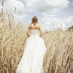 Bruid in het graan