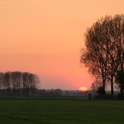 Zonsondergang Hoefkensdijk