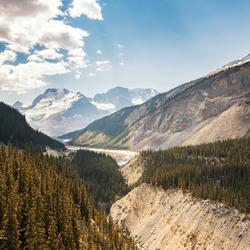 Viewing Athabasca Glacier