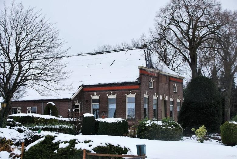 Boerderij in Overijsel. - Een mooi Boerderij de het winter landschap.