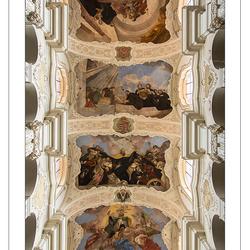 Plafond van de St Thomaskerk in Praag