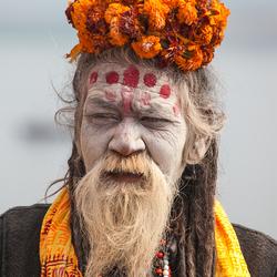 Kleurrijke sadhu