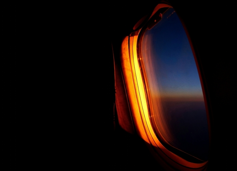 Flying east -