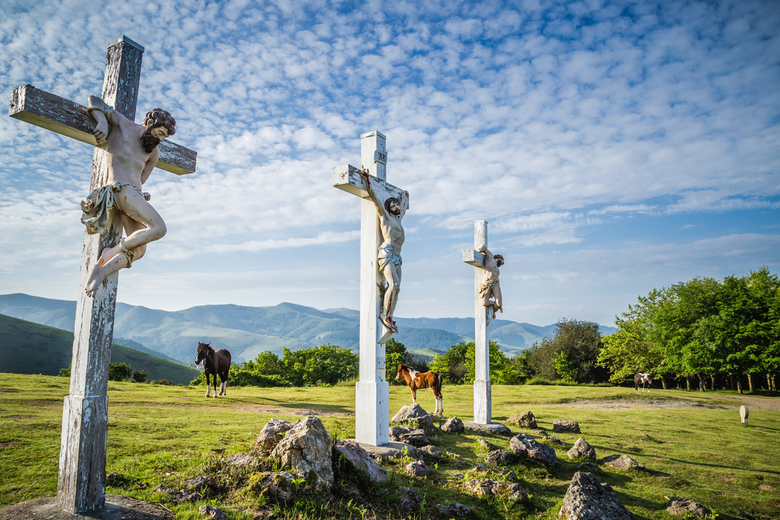 Pelgrimstocht - Pyreneeën, AinHoa, Col the trois Croix