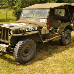 Amerikaanse Jeep uit WOii in Frankrijk
