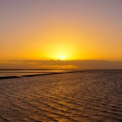 Holwerd sunset