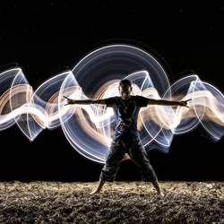 Lightpainting on a beach part 2