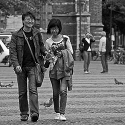 Op straat in Delft..