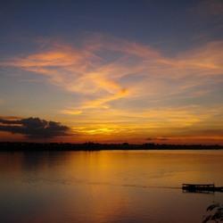 Mekong rivier by night