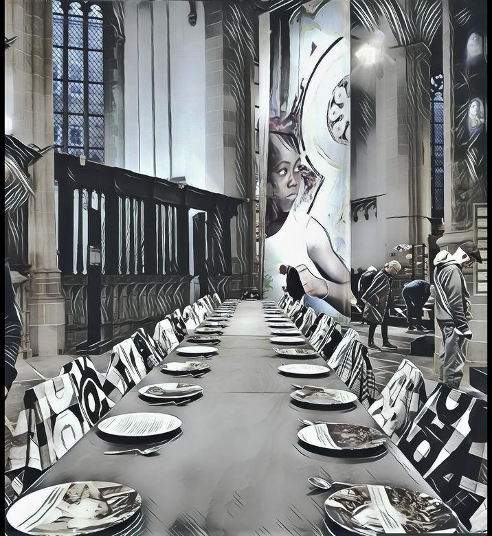 Tentoonstelling Suriname - AMSTERDAM - Nieuwe Kerk, tentoonstelling over de Binnenlandse Oorlog in Suriname.<br /> <br /> Kunstenaar Marcel Pinas ma