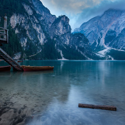 Docks of lago di braies
