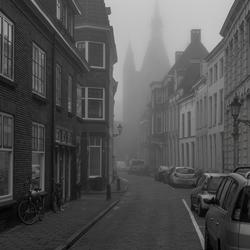 Mistige ochtend in Zwolle