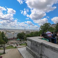 Uitzicht Sacre Coeur, Parijs