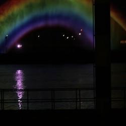 rainbow by night