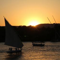 Zons ondergang aan de Nijl