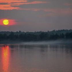 zonsondergang over Mekong