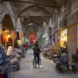 In de bazaar van Esfahan