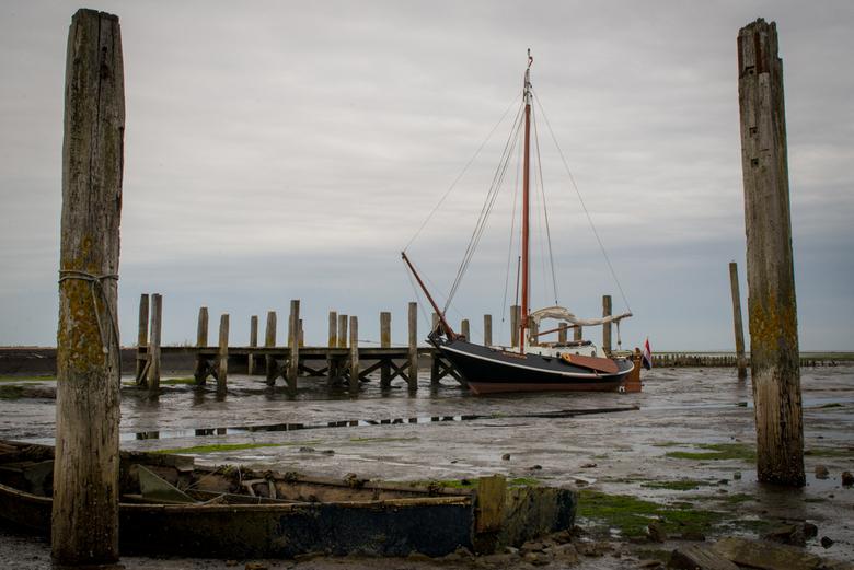 Gestrande boot op Texel - Gestrande boot op Texel
