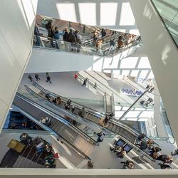 Het nieuwe Forum, Groningen, van bovenaf gezien