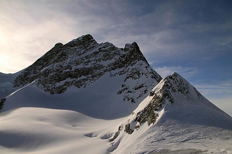 Jungfrau - We blijven op de Jungfraujoch, het blijft een schitterende plek om te zijn.<br /> Hier een foito van de top van de Jungfrau.<br /> Bedank