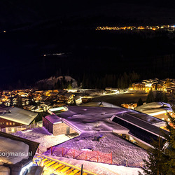 Uitzicht vanaf balkon in Konigsleiten