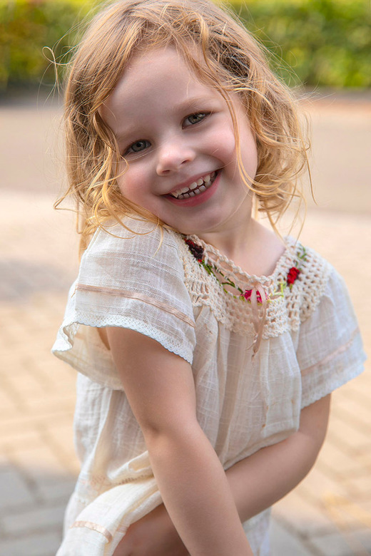 Snapshot van mijn kleindochter op haar derde verjaardag -