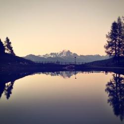 Mont Blanc bij zonsondergang