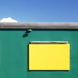 Groen, geel en blauw