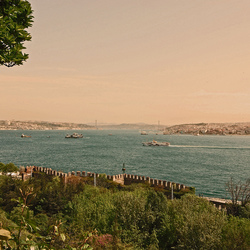 Uitzicht over de Bosphorus